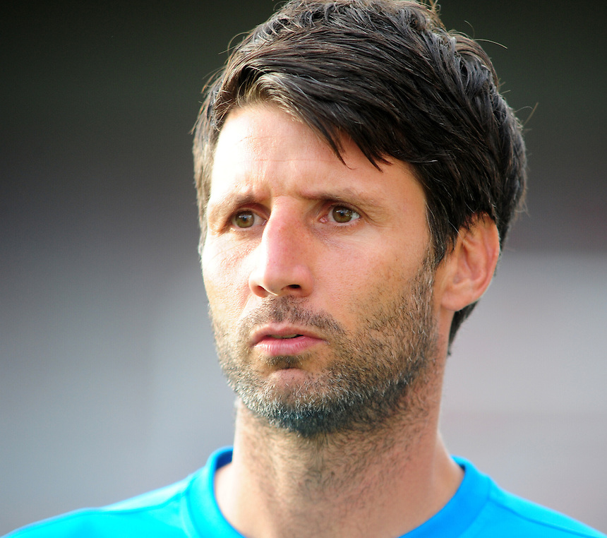Lincoln City manager Danny Cowley <br /> <br /> Photographer Andrew Vaughan/CameraSport<br /> <br /> Football - Vanarama National League - Lincoln City v North Ferriby United - Tuesday 9th August 2016 - Sincil Bank - Lincoln<br /> <br /> &copy; CameraSport - 43 Linden Ave. Countesthorpe. Leicester. England. LE8 5PG - Tel: +44 (0) 116 277 4147 - admin@camerasport.com - www.camerasport.com