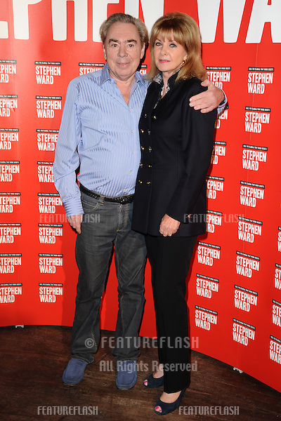 "Lord Andrew Lloyd Webber and Mandy Rice Davies at the photocall to launch Lloyd Webber's new musical ""Stephen Ward"" at The Box, Soho, London.  30/09/2013 Picture by: Steve Vas / Featureflash"