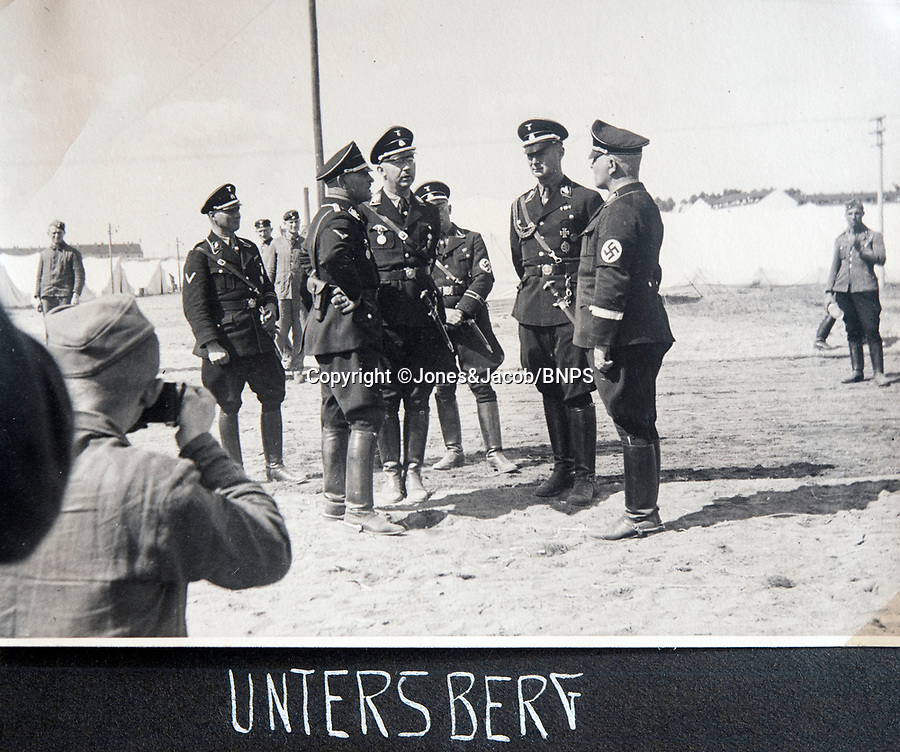 BNPS.co.uk (01202 558833)<br /> Pic: Jones&Jacob/BNPS<br /> <br /> SS chief Himmler visiting Untersberg near Berchtesgaden.<br /> <br /> Springtime for Hitler...Chilling album of pictures taken by one of Hitlers bodyguards illustrates the Nazi dictators rise to power.<br /> <br /> An unseen album of photographs taken by a member of Hitlers own elite SS bodyguard division in the years leading up to the start of WW2.<br /> <br /> The 1st SS Panzer Division 'Leibstandarte SS Adolf Hitler' or LSSAH began as Adolf Hitler's personal bodyguard in the 1920's responsible for guarding the Führer's 'person, offices, and residences'.