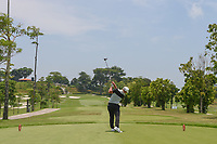 Brentt SALAS (GUM) hits his tee shot on 3 during Rd 1 of the Asia-Pacific Amateur Championship, Sentosa Golf Club, Singapore. 10/4/2018.<br /> Picture: Golffile | Ken Murray<br /> <br /> <br /> All photo usage must carry mandatory copyright credit (&copy; Golffile | Ken Murray)