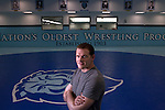 Assistant wrestling coach of the Columbia University's wrestling team, Hudson Taylor at Dodge Fitness Center at Columbia University in Manhattan, NY on May 20, 2013. Taylor has been one of very few athletes who have supported the LGBT community, even though he himself is straight.