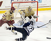 Tommy Cross (BC - 4), Stevie Moses (UNH - 22), Parker Milner (BC - 35) - The Boston College Eagles defeated the visiting University of New Hampshire Wildcats 4-3 on Friday, January 27, 2012, in the first game of a back-to-back home and home at Kelley Rink/Conte Forum in Chestnut Hill, Massachusetts.