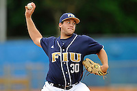 17 April 2010:  FIU's Scott Rembisz (30) pitches in the first inning .as the FIU Golden Panthers defeated the University of New Orleans Privateers, 6-4, at University Park Stadium in Miami, Florida.