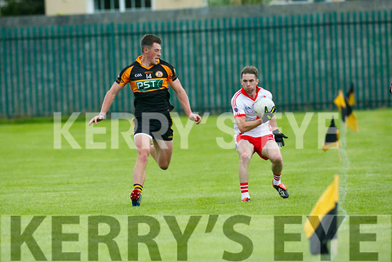 In Action An Ghaeltacht's Marc O'Se gets away from stacks 14 in the   County League Div 1 Austin Stacks v An Ghaeltacht at Connolly Park on Sunday