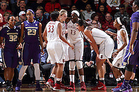 STANFORD, CA - February 27, 2014: Stanford Cardinal during Stanford's 83-60 victory over Washington at Maples Pavilion.