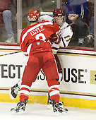Charlie Coyle (BU - 3), Pat Mullane (BC - 11) - The Boston College Eagles defeated the visiting Boston University Terriers 5-2 on Saturday, December 4, 2010, at Conte Forum in Chestnut Hill, Massachusetts.