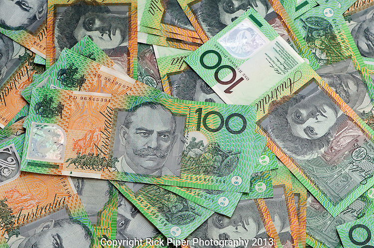 Aussie Dollars 04 - Australian one hundred dollar notes.