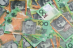Aussie Dollars 04 - Australian one hundred dollar notes.