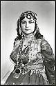 Iraq 1970 <br /> Portrait of a Kurdish woman in traditionnal dress  <br /> Irak 1970 <br /> Portrait d'une femme en costume traditionnel