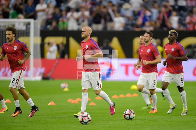 Houston, TX - Tuesday June 21, 2016: Michael Bradley prior to a Copa America Centenario semifinal match between United States (USA) and Argentina (ARG) at NRG Stadium.