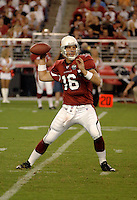 Aug. 31, 2006; Glendale, AZ, USA; Arizona Cardinals quarterback (16) John Navarre against the Denver Broncos at Cardinals Stadium in Glendale, AZ. Mandatory Credit: Mark J. Rebilas