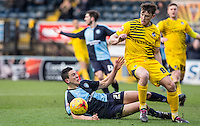 Ollie Clarke of Bristol Rovers & Luke O'Nien of Wycombe Wanderers in action during the Sky Bet League 2 match between Wycombe Wanderers and Bristol Rovers at Adams Park, High Wycombe, England on 27 February 2016. Photo by Andy Rowland.
