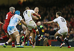 George North of Wales tackled by Anthony Watson of England - RBS 6Nations 2015 - Wales  vs England - Millennium Stadium - Cardiff - Wales - 6th February 2015 - Picture Simon Bellis/Sportimage