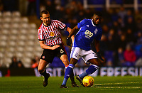 Lee Catemole of Sunderland battles with Jeremie Boga of Birmingham during the Sky Bet Championship match between Birmingham City and Sunderland at St Andrews, Birmingham, England on 30 January 2018. Photo by Bradley Collyer / PRiME Media Images.