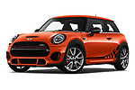 Stock pictures of low aggressive front three quarter view of 2019 MINI Hardtop-2-Door John-Cooper-Works-Iconic 3 Door Hatchback Low Aggressive