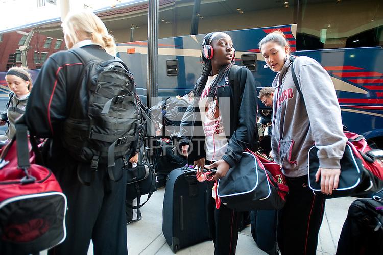 SPOKANE, WA - MARCH 24, 2011: Stanford Women's Basketball, NCAA West Regionals on March 24, 2011.