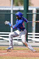 Chicago Cubs second baseman Frandy Delarosa (98) during an Instructional League intersquad game on October 9, 2014 at Cubs Park Complex in Mesa, Arizona.  (Mike Janes/Four Seam Images)
