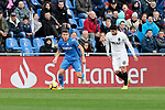 Getafe CF's XXX and Valencia CF's XXX during La Liga match between Getafe CF and Valencia CF at Coliseum Alfonso Perez in Getafe, Spain. November 10, 2018.