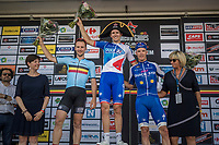 Arnaud D&eacute;mare (FRA/FDJ) wins the 70th Halle Ingooigem 2017 (1.1) <br /> Edward Theuns (BEL/Trek-Segafredo) is 2nd &amp; Iljo Keisse (BEL/QuickStep Floors) 3rd<br /> <br /> <br /> 1 Day Race: Halle &gt; Ingooigem (201km)