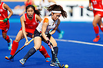 Aki Yamada (JPN), <br /> AUGUST 21, 2018 - Hockey : <br /> Women's Group A match <br /> between Japan 6-0 Hong Kong <br /> at Gelora Bung Karno Hockey Field <br /> during the 2018 Jakarta Palembang Asian Games <br /> in Jakarta, Indonesia. <br /> (Photo by Naoki Morita/AFLO SPORT)