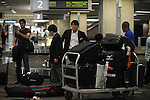 Hideki Matsui (Rays),.APRIL 30, 2012 - MLB :.Tampa Bay Rays new signing Hideki Matsui arrives at Tampa International Airport in Tampa, Florida, United States. (Photo by AFLO)