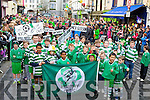 Killarney Celtic players say Don't Kick Our Council Out at the parade on Monday