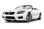 Stock pictures of low aggressive front three quarter view of 2017 BMW M6 - 2 Door Convertible Low Aggressive