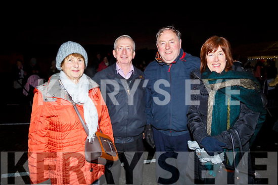 Enjoying the fireworks in Castleisland on Friday Hannah Mai Murphy,Johnny McCarthy,Mike Murphy and Bridget Herlihy