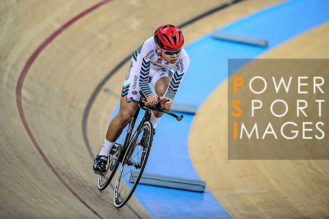 Ling Kwan Kit of team X SPEED during the Indiviual Pursuit Youth Qualifying (3KM) Track Cycling Race 2016-17 Series 3 at the Hong Kong Velodrome on February 4, 2017 in Hong Kong, China. Photo by Marcio Rodrigo Machado / Power Sport Images