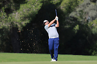 Jack Senior (ENG) on the 9th fairway during Round 3 of the Challenge Tour Grand Final 2019 at Club de Golf Alcanada, Port d'Alcúdia, Mallorca, Spain on Saturday 9th November 2019.<br /> Picture:  Thos Caffrey / Golffile<br /> <br /> All photo usage must carry mandatory copyright credit (© Golffile | Thos Caffrey)