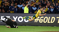 Nic White of the Wallabies goes over for try during the Rugby Championship match between Australia and New Zealand at Optus Stadium in Perth, Australia on August 10, 2019 . Photo: Gary Day / Frozen In Motion