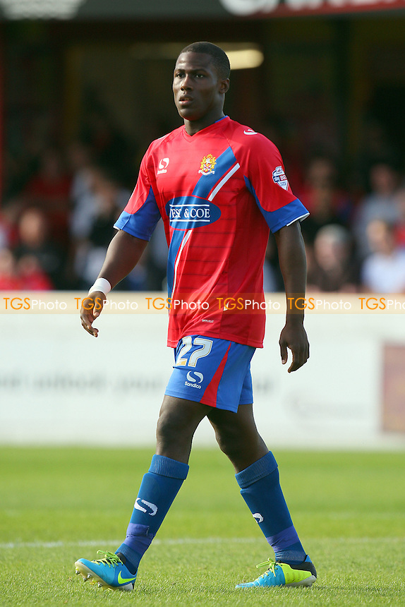 Adeoye Yusuff  of Dagenham and Redbridge - Dagenham and Redbridge vs Cambridge United - Sky Bet League Two action at the London Borough of Barking and Dagenham Stadium on 13/09/2014 - MANDATORY CREDIT: Dave Simpson/TGSPHOTO - Self billing applies where appropriate - 0845 094 6026 - contact@tgsphoto.co.uk - NO UNPAID USE
