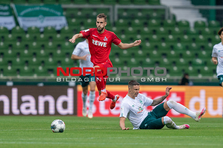 Dominick Drexler (FC Koeln #24), Marco Friedl (Werder Bremen #32)<br /> <br /> <br /> Sport: nphgm001: Fussball: 1. Bundesliga: Saison 19/20: 34. Spieltag: SV Werder Bremen vs 1.FC Koeln  27.06.2020<br /> <br /> Foto: gumzmedia/nordphoto/POOL <br /> <br /> DFL regulations prohibit any use of photographs as image sequences and/or quasi-video.<br /> EDITORIAL USE ONLY<br /> National and international News-Agencies OUT.