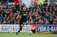 Henrikh Mkhitaryan of Man Utd during the Premier League match between Stoke City and Manchester United at the Britannia Stadium, Stoke-on-Trent, England on 9 September 2017. Photo by Andy Rowland.