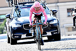 Race leader Maglia Rosa Richard Carapaz (ECU) Movistar Team on his way to overall victory during Stage 21 the final stage of the 2019 Giro d'Italia, an individual time trial running 17km from Verona to Verona, Italy. 2nd June 2019<br /> Picture: Fabio Ferrari/LaPresse | Cyclefile<br /> <br /> All photos usage must carry mandatory copyright credit (© Cyclefile | Fabio Ferrari/LaPresse)