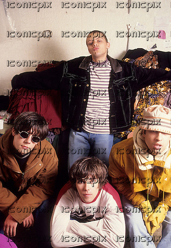 STONE ROSES - Photographed in Paris France - December 1989.  Photo credit: Louis Vincent/Dalle/IconicPix  **UK ONLY** **HIGHER RATES APPLY**