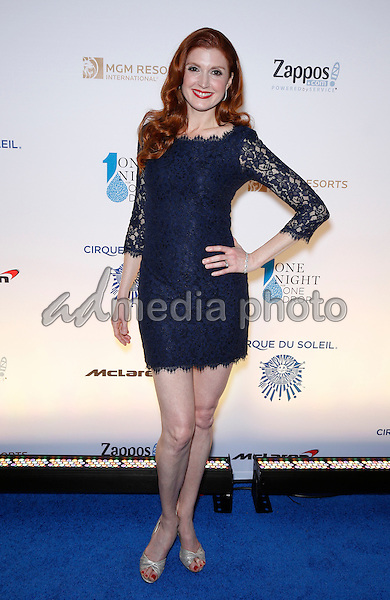 18 March 2016 - Las Vegas, Nevada -  Julia Fowler. Cirque Du Soleil presents star-studded blue carpet at Fourth Annual One Night for ONE DROP at the Cleveland Clinic Lou Ruvo Center for Brain Health. Photo Credit: MJT/AdMedia