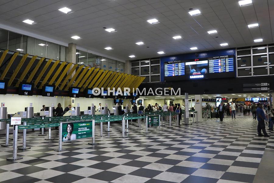 Area de check in no Aeroporto de Congonhas. Sao Paulo. 2017. Foto de Marcia Minillo.