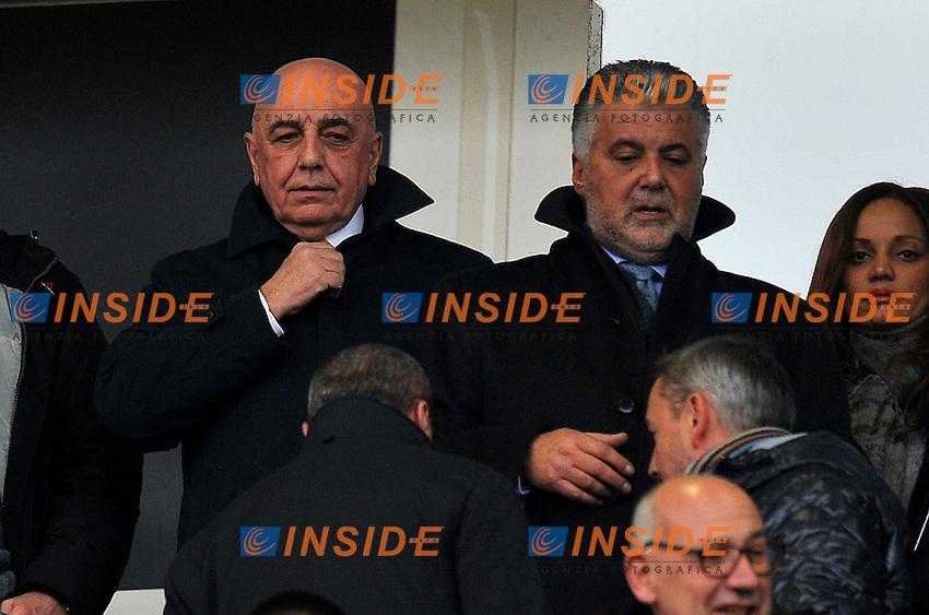 """Adriano GALLIANI (Milan), Albano GUARALDI (Bologna).Bologna 11/12/2011 Stadio """"Renato Dall Ara"""".Serie A 2011/2012.Football Calcio Bologna Vs Milan.Foto Insidefoto Alessandro Sabattini."""