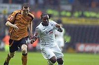 Pictured: Jason Scotland of Swansea City in action <br /> <br /> Re: Coca Cola Championship, Swansea City Football Club v  Wolverhampton Wanderers at the Liberty Stadium, Swansea, south Wales 2008.
