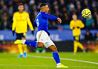 9th November 2019; King Power Stadium, Leicester, Midlands, England; English Premier League Football, Leicester City versus Arsenal; Youri Tielemans of Leicester City gets his volley at goal - Strictly Editorial Use Only. No use with unauthorized audio, video, data, fixture lists, club/league logos or 'live' services. Online in-match use limited to 120 images, no video emulation. No use in betting, games or single club/league/player publications