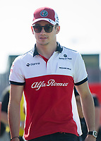 CHARLES LECLERC (MCO) of Alfa Romeo Sauber F1 Team during The Formula 1 2018 Rolex British Grand Prix at Silverstone Circuit, Northampton, England on 8 July 2018. Photo by Vince  Mignott.