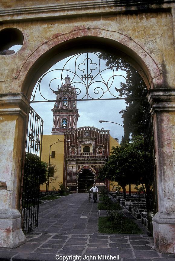 The Templo de Santa Maria church in the village of Tonantzintla, Puebla state, Mexico