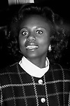 Anita Hill leaving the NBC Building on October 28, 1993 at Rainbow Room in New York City.