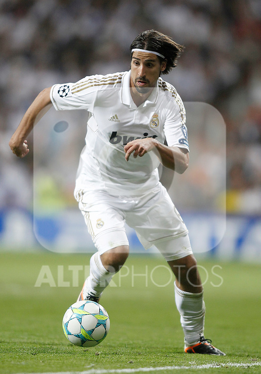 Real Madrid's Sami Khedira during UEFA Champions League match. April 25, 2012. (ALTERPHOTOS/Alvaro Hernandez)