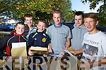 Antoin De Burca (Tralee) Donal O Driain (Tralee) Seamus De Roiste (Tralee) Sean O Dugain (Tralee) Bobby O Lochlainn (Listowel) and Erin Mac Diolla Ghunna (Tralee) students from Gaelcolaiste Chiarrai who received their Junior Certificate results on Wednesday morning.
