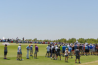 Graeme McDowell (NIR), left, looks over his putt in front of a packed gallery on 2 during round 1 of the AT&T Byron Nelson, Trinity Forest Golf Club, at Dallas, Texas, USA. 5/17/2018.<br /> Picture: Golffile | Ken Murray<br /> <br /> <br /> All photo usage must carry mandatory copyright credit (© Golffile | Ken Murray)