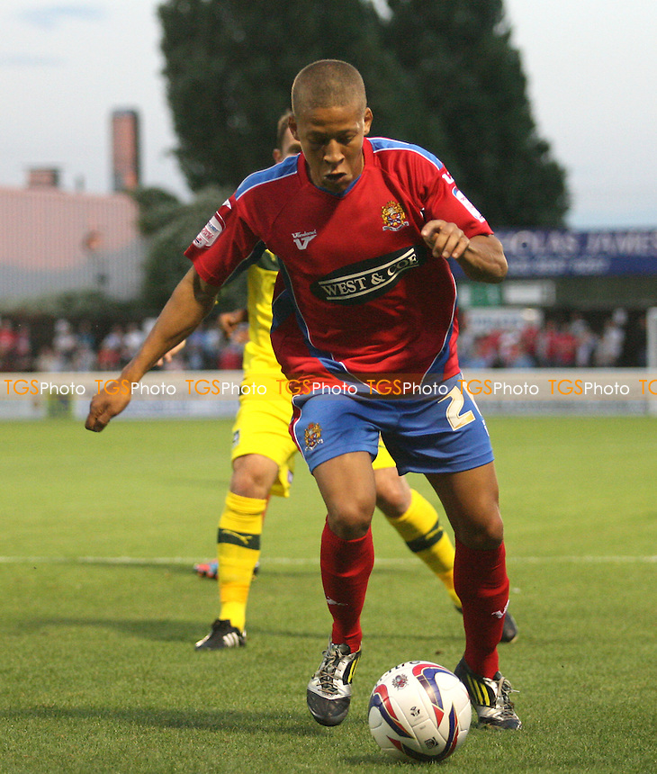 Dwight Gayle of Dagenham -  Dagenham and Redbridge vs Plymouth Argyle at the London Borough of Barking and Dagenham  Stadium  - 21/08/12 - MANDATORY CREDIT: Dave Simpson/TGSPHOTO - Self billing applies where appropriate - 0845 094 6026 - contact@tgsphoto.co.uk - NO UNPAID USE.