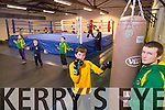 Jack Sheehan with Coach Sean O'Shea, and members of Tralee Boxing Club  at their new location in Monavalley on Monday