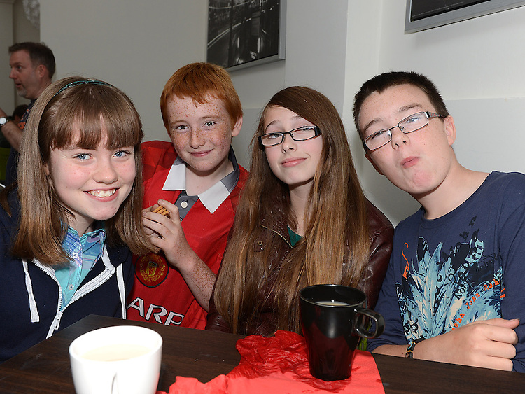Linda Mackle, Daniel Gibbons, Ellie Kevitt Murphy and Adam Kirwan pictured at the opening of the Boomerang Cafe. Photo:Colin Bell/pressphotos.ie